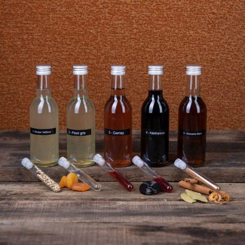 wijn flesjes met ingrediënt